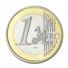 Common face 1 euro 1999